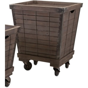 Ella Elaine Wood Cart Tray Side Tables - Large