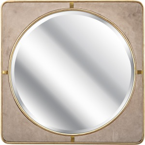 SG Suede Wall Mirror