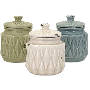 Alena Ceramic Canisters - Ast 3