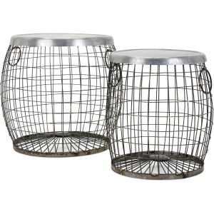 Balaz Wire Tables - Set of 2