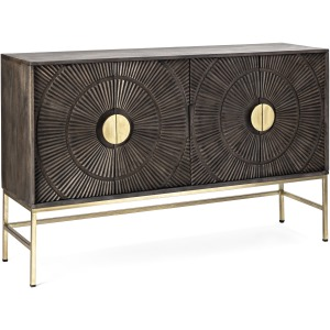 Felincia Carved Wood Sideboard Cabinet