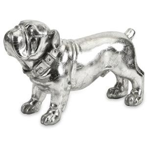 Maximus Stick Silver Dog Statue