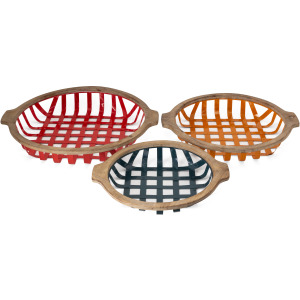 Farmstead Round Trays - Set of 3