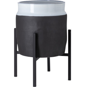 Miller Large Ceramic Planter with Stand