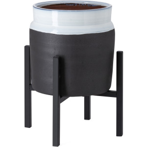 Miller Small Ceramic Planter with Stand