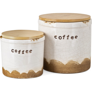 TY Coffee Talk Decorative Canister - Set of 2