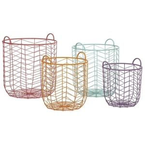 Maya Metal Baskets - Set of 4