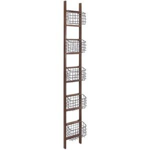 Carlow Wood Ladder Shelf