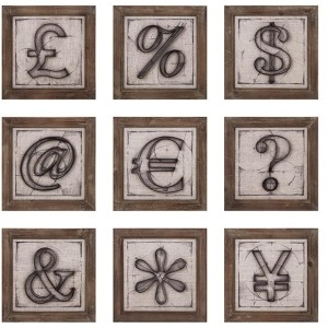 Beth Kushnick Symbols Wall Decor - Ast 9