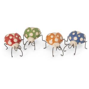 Farmstead Ceramic and Metal Ladybugs - Ast 4