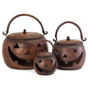 Lidded Pumpkins - Set of 3