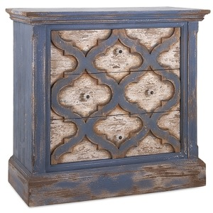 Lyndsey Blue Wood Chest of Drawers
