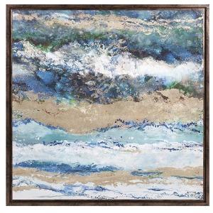 Seaside Waves Framed Canvas