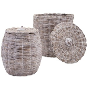 Cassiel Lidded Baskets - Set of 2
