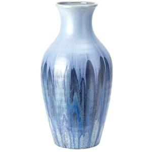Oreille Large Blue Glaze Vase