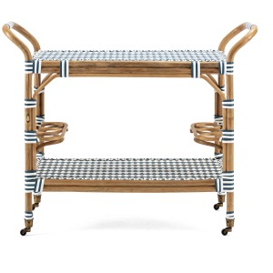 Casablanca Rattan Bar Cart
