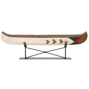 Adirondack Large Canoe on Metal Stand