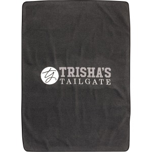 TY Tailgate Charcoal Gray Embroidered Sweatshirt Blanket