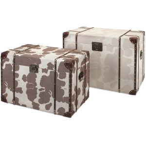 TY Cowboy Storage Trunks - Set of 2