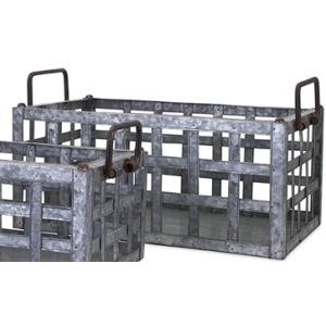 TY Honeybee Galvanized Crate - Large