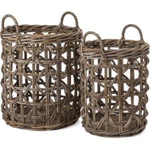 Rattan Baskets - Set of 2