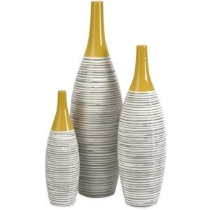 Andean Multi Glaze Vases-Set of 3