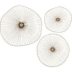 Gilded Sphere Wall Decor - Set of 3