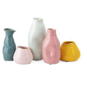 Marigold Colorful Mini Vases - Set of 5