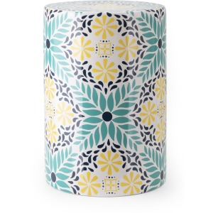 Capri Patterned Garden Stool