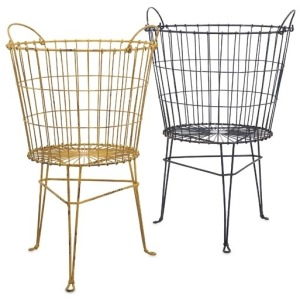Kaden Wire Basket on Stand - Set of 2