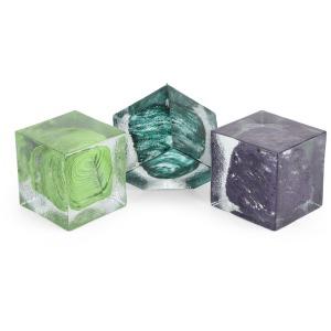 SG Serenity Art Glass Blocks - Set of 3