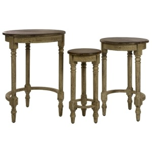 Antique Inspired Nesting Tables - Set of 3