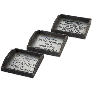 Ella Elaine Metal Trays - Set of 3