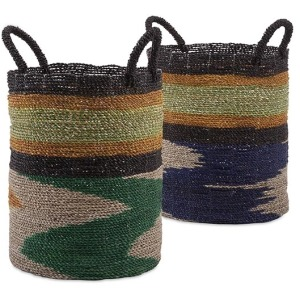 Zephon Seagrass Baskets - Set of 2