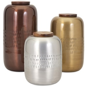 Aluminum Lidded Vessels - Set of 3