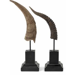 Kasmir Horn Statuary - Set of 2