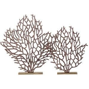 Dido Aluminum Coral Statuaries - Set of 2
