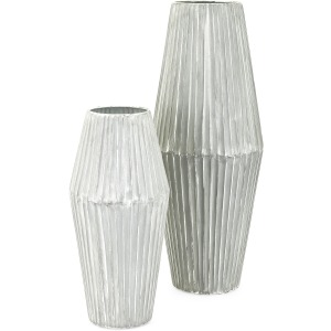 Willow Metal Vases - Set of 2