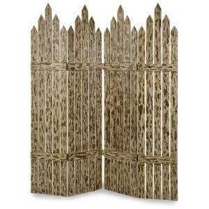 Picket Fence Wood Floor Screen