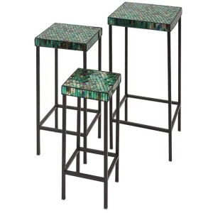 Darwin Mosaic Glass Tables - Set of 3