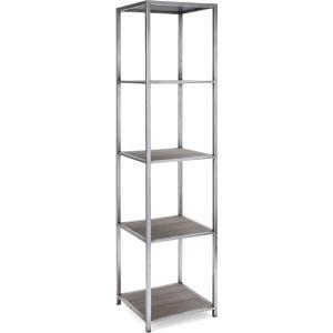 Spartan Etagere Veneer & Metal Shelf