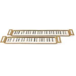 Tribute Piano Key Bone Trays - Set of 2