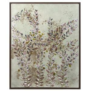 Botanical Wisdom Framed Oil Painting