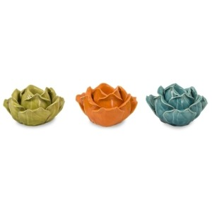 Chelan Flower Candle Holders in Gift Box - Set of 3