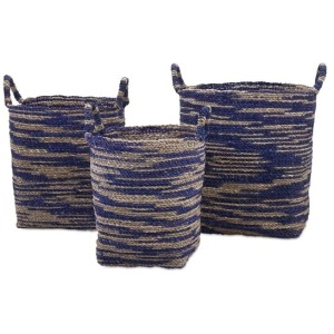 Cyprus Seagrass Baskets - Set of 3