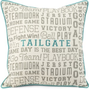 TY Tailgate Soft Blue Accent Pillow