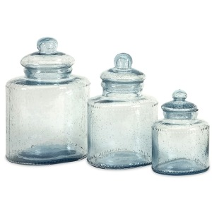 Cyprus Glass Canister - Set of 3