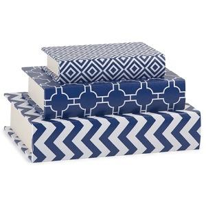 Essentials Marin Blue Book Boxes - Set of 3