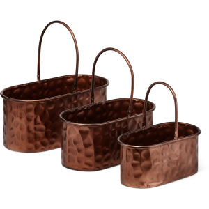 Calvin Copper Planters - Set of 3