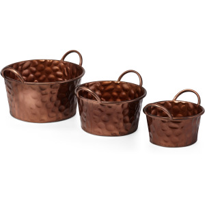 Conrite Copper Planters - Set of 3